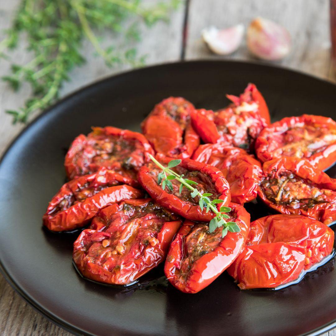 tomate receta albahaca secos