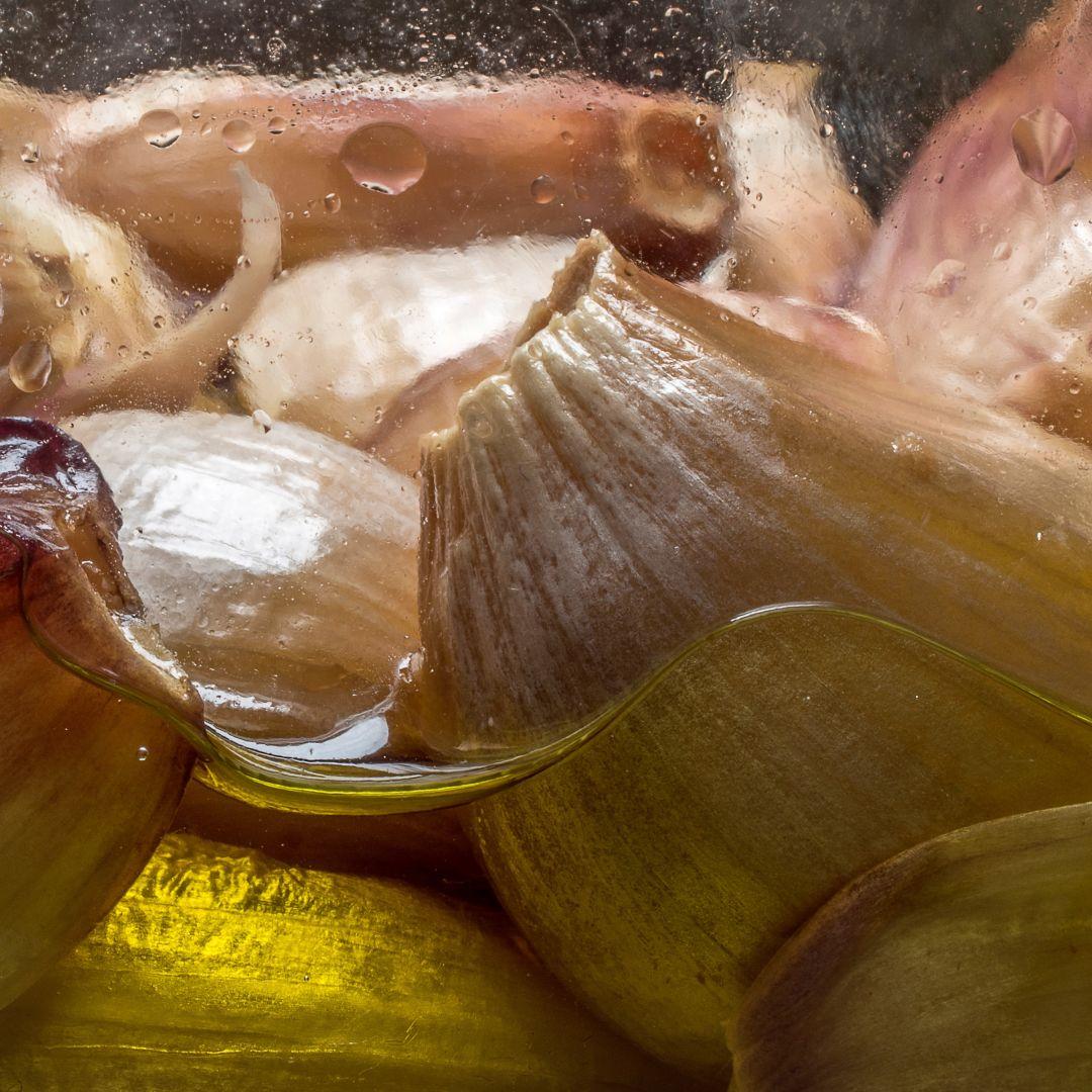 ajo arroz cremoso con cocochas de bacalao