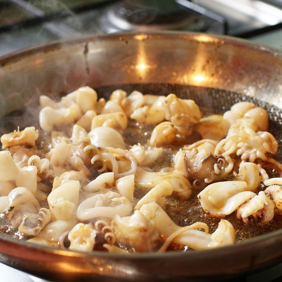 anillas calamar arroz a banda