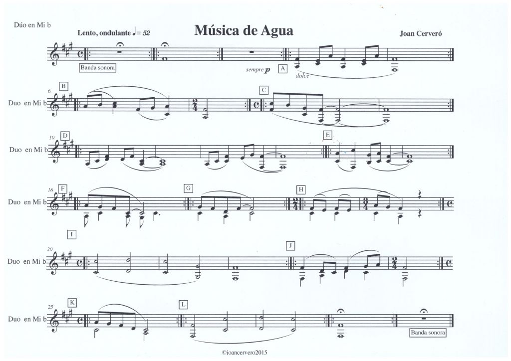 Paella Music score 1