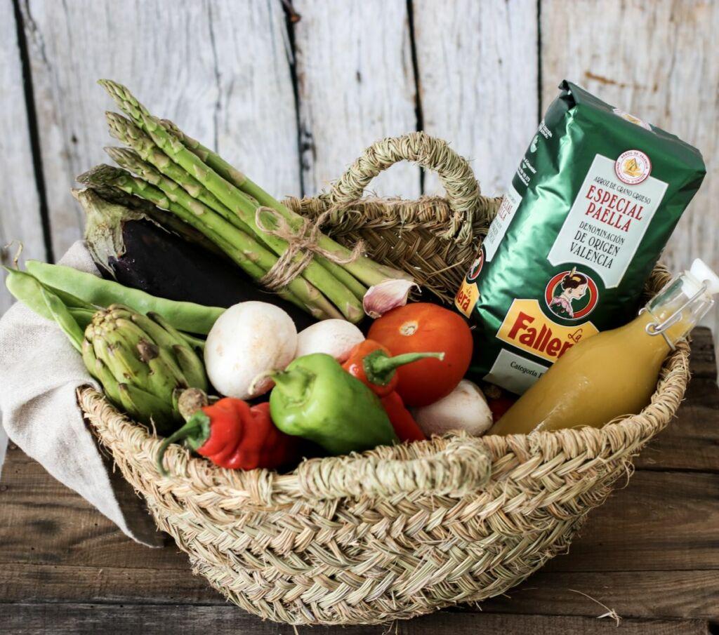 Ingredientes para hacer arroz con verduras