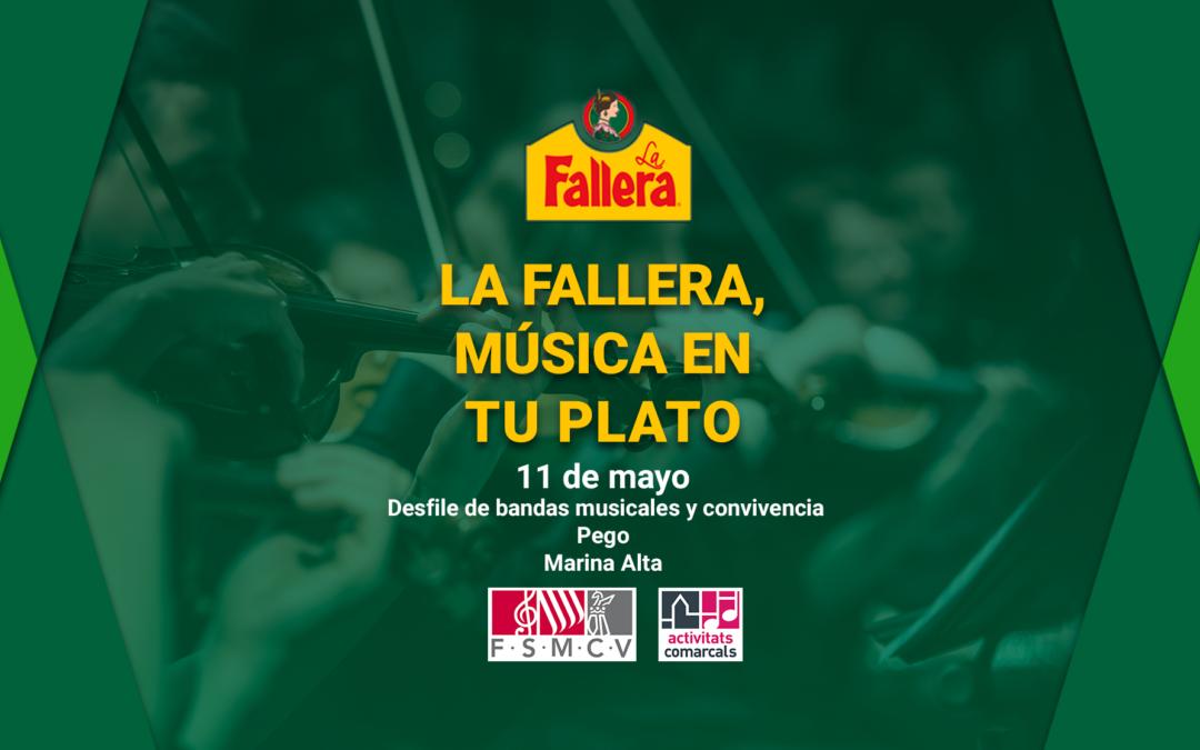 Desfile de bandas musicales y convivencia en Pego de Marina Alta