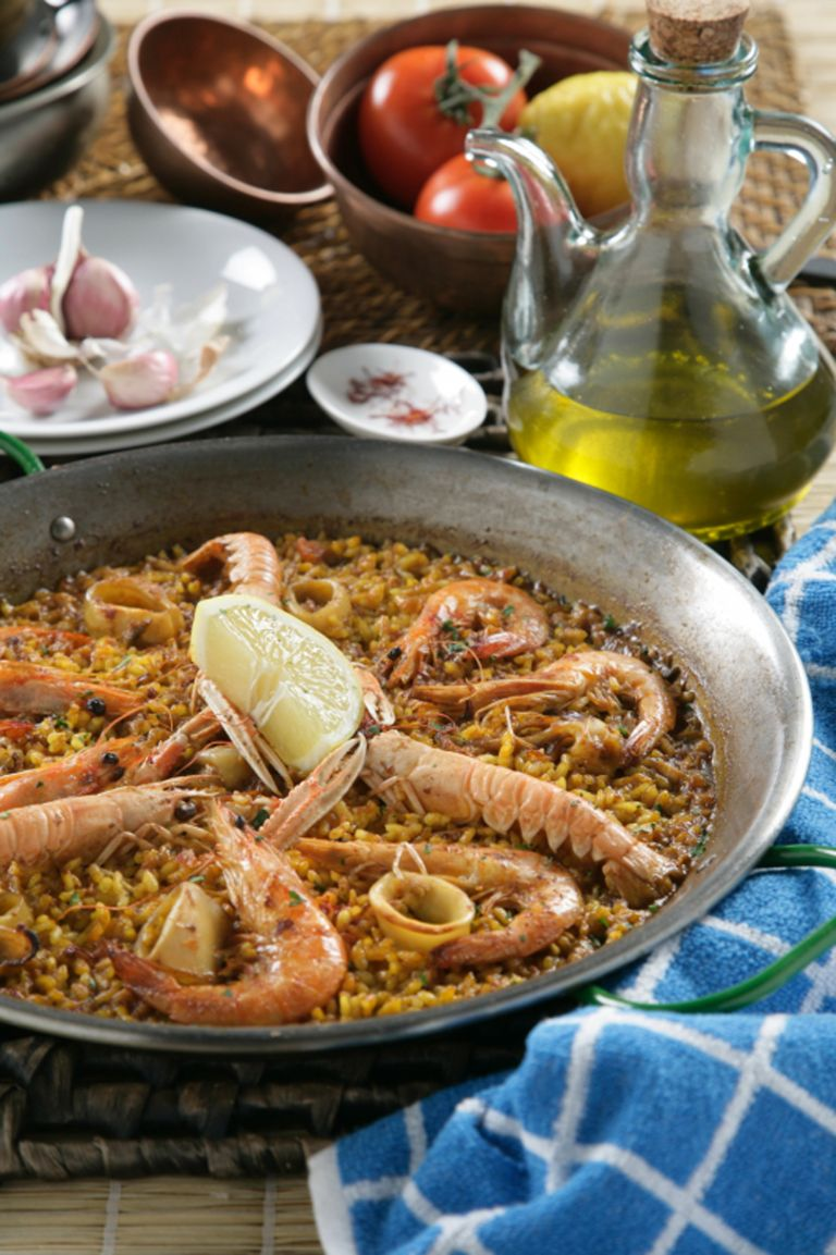 Exquisita Paella de marisco