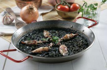 arroz negro con chipirones