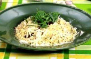 arroz meloso de tomate y albahaca