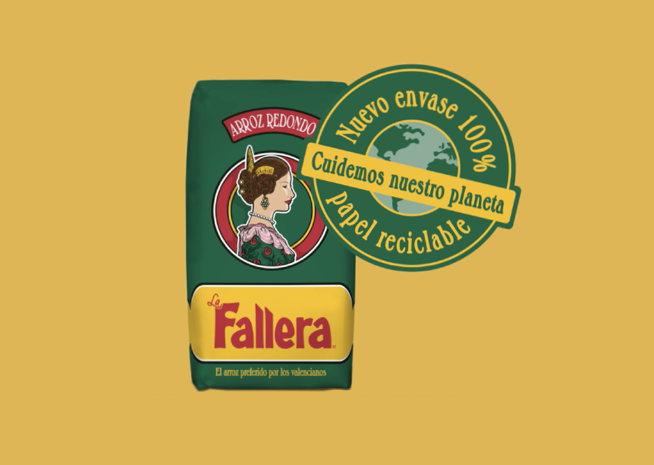 Envase 100% reciclable Arroz Redondo La Fallera
