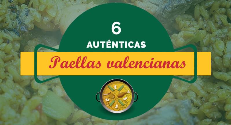 6 auténticas paellas valencianas