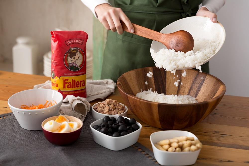 Emplatamos los ingredientes uno a uno